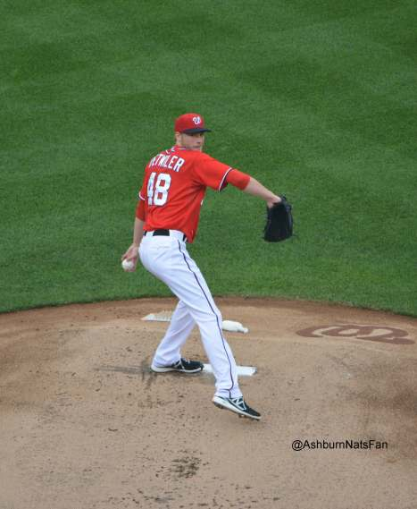 Ross Detwiler on the mound, captured by @AshburnNatsFan